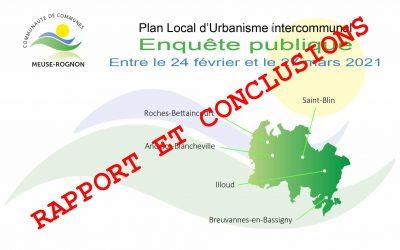 Enquête Publique PLUI Rapport et conclusions